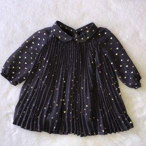 Gap gold heart dress size 3-6 months